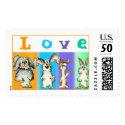 love postage bunny rabbits