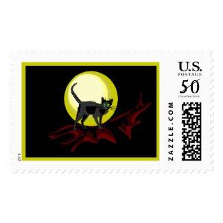 Bela Black Cat by Wendy C. Allen stamp