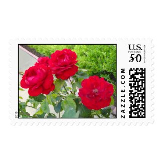 Red Roses stamp
