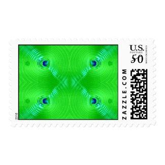 green ripple stamp