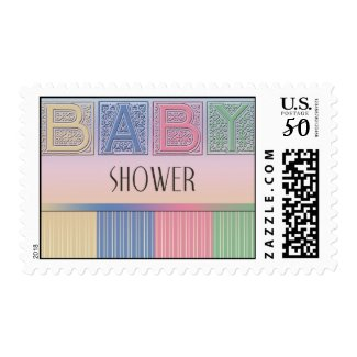Baby shower pastel stamp