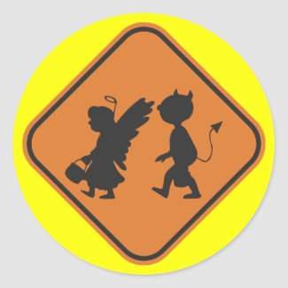 Hallowing Crossing sticker