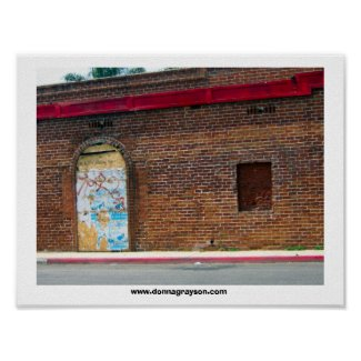 brick building print