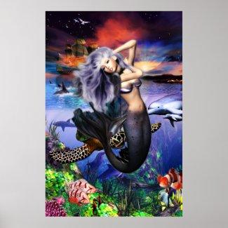 Mermaid Fantasea Poster print