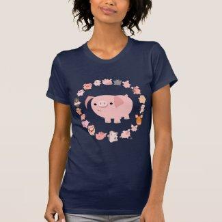 Pig Mandala lady raglan shirt