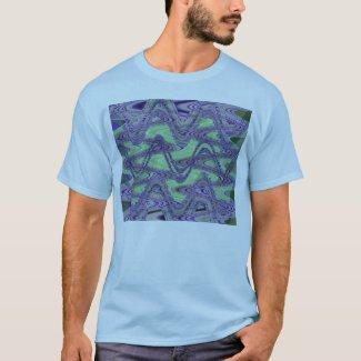 blue green wave shirt