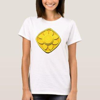 yellow flower shirt