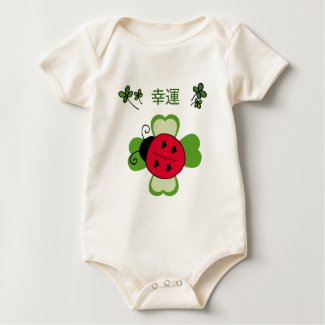 A ladybug on a four-leaf clover Infant Bodysuit shirt
